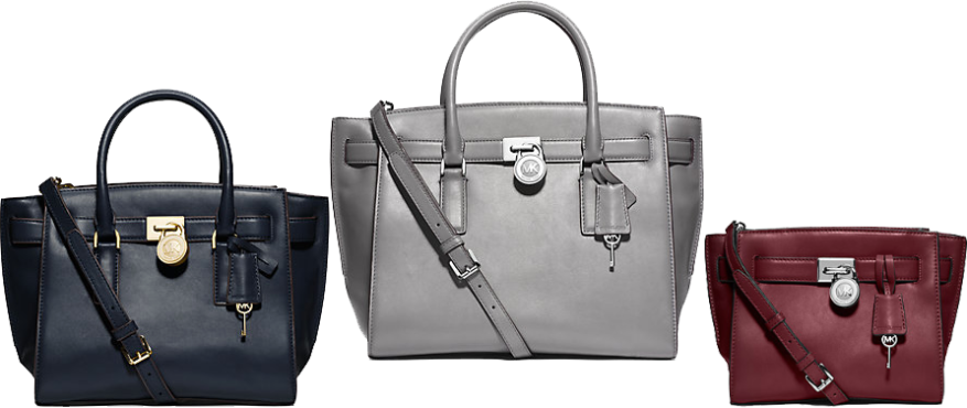 The Hamilton Traveler Satchel in Sizes Large (Gray), Medium (Navy) and Messenger (Claret)