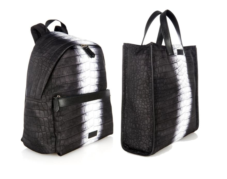 Fendi Croc Nylon Print Backpack and Tote