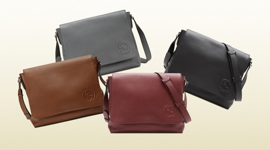 Gucci Leather Messenger Collection