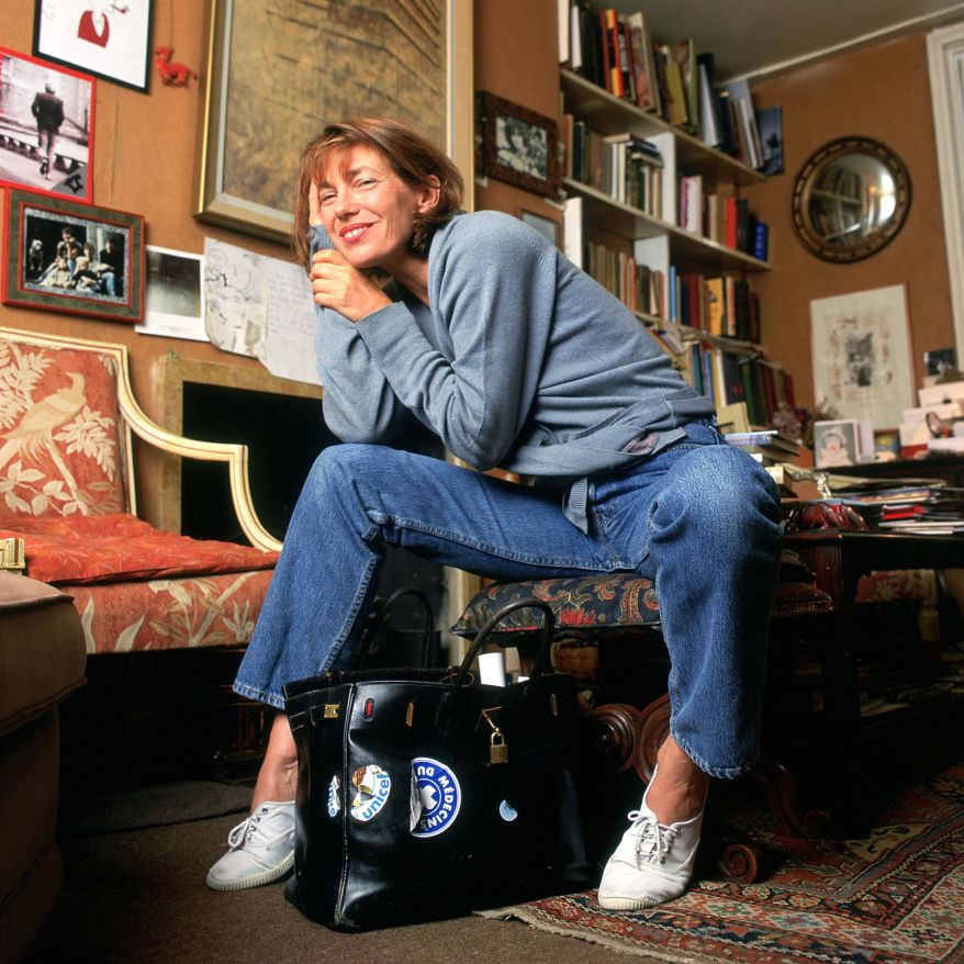 Jane Birkin, with her Hermès Birkin