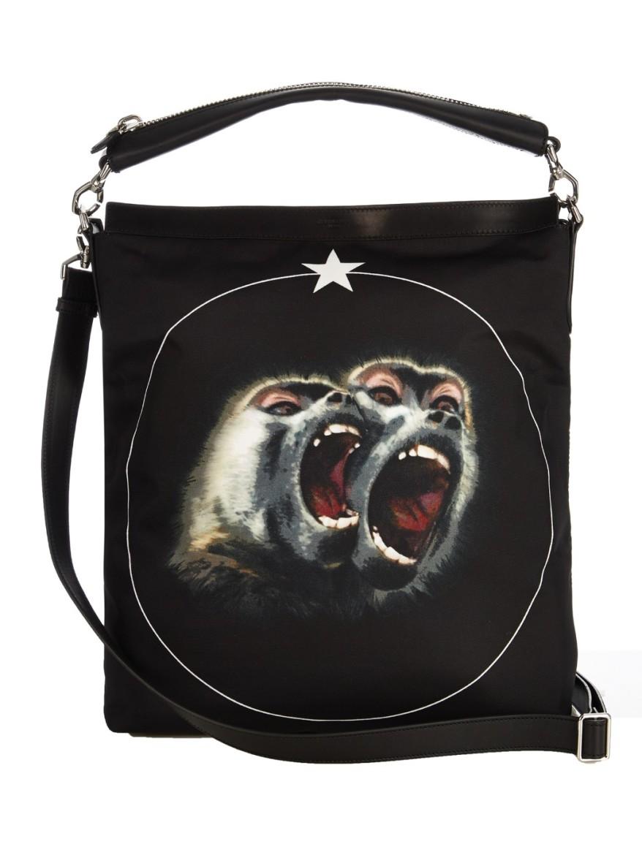 Screaming Monkey nylon tote 1