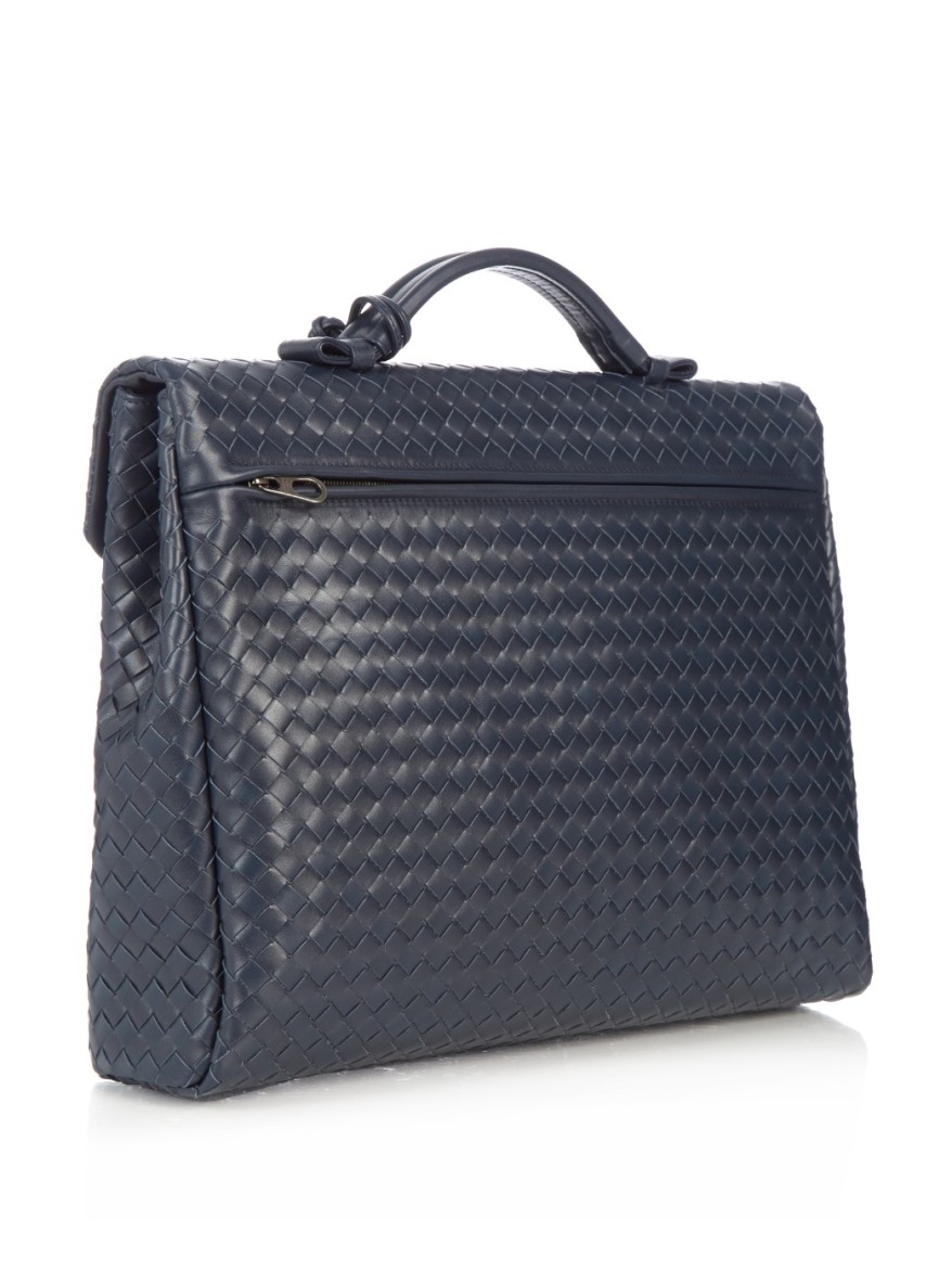 BV Intrecciato Leather Briefcase (1)