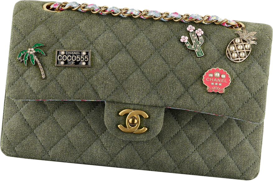 chanel-classic-flap-bag-canvas-with-charms