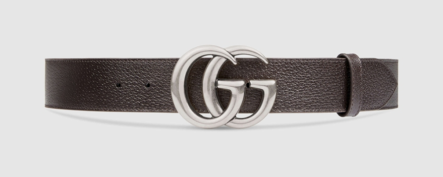 leather-belt-with-double-g-buckle-silver