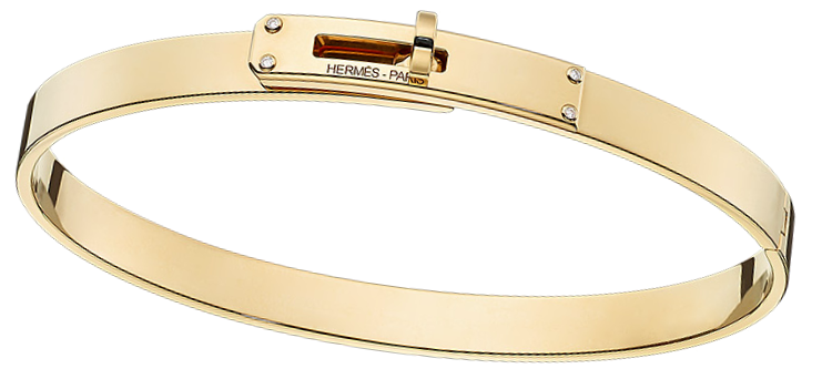 kelly-hermes-bracelet-in-yellow-gold-set-with-4-diamonds-0-02-ct