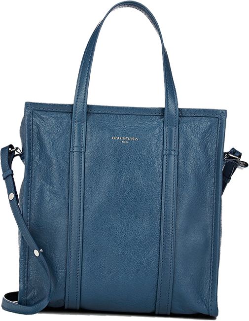 BALENCIAGA Arena Leather Bazar Small Shopper Tote Bag 3