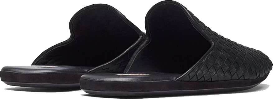 FIANDRA SLIPPER IN NERO INTRECCIATO CALF LEATHER 2