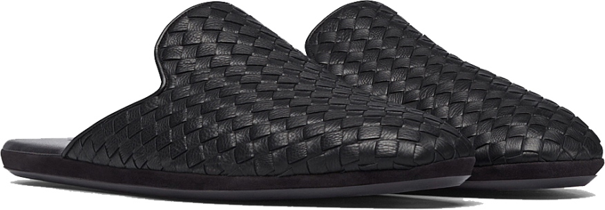 FIANDRA SLIPPER IN NERO INTRECCIATO CALF LEATHER 5