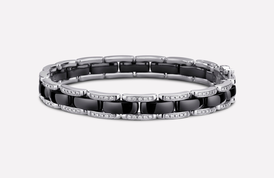 ULTRA BRACELET Black Ceramic 18K White Gold with diamonds