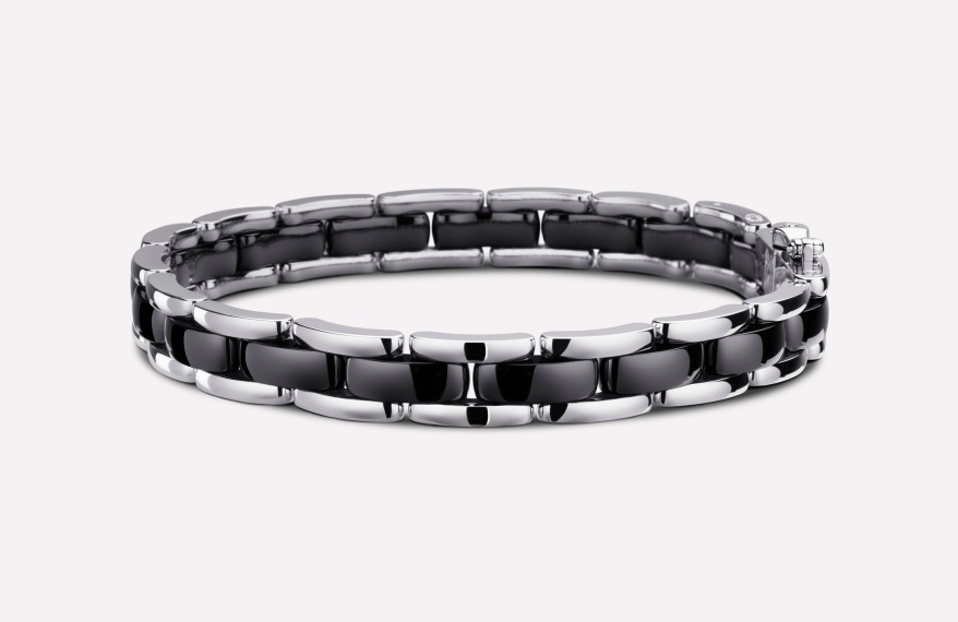 ULTRA BRACELET Black Ceramic 18K White Gold