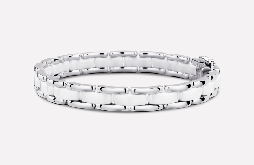 ULTRA BRACELET White Ceramic 18K white Gold