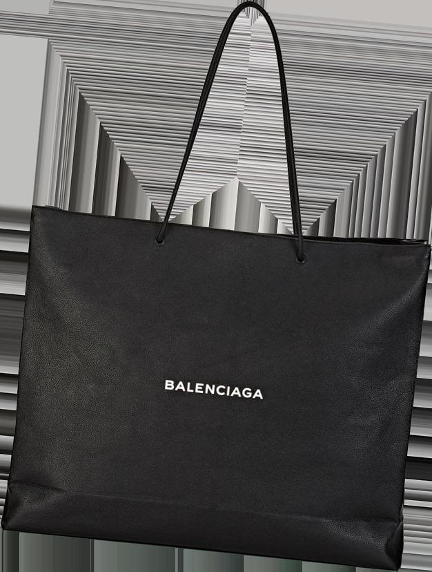 Balenciaga Logo Large Shopping Tote Bag 1