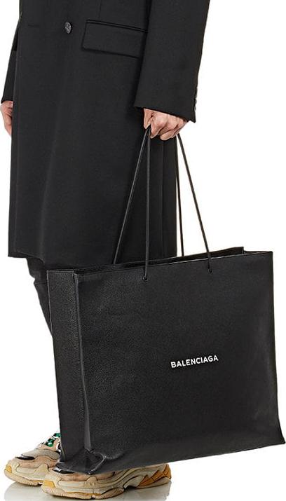 Balenciaga Logo Large Shopping Tote Bag 4