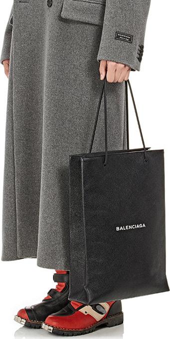 Balenciaga Logo Medium Shopping Tote Bag 4