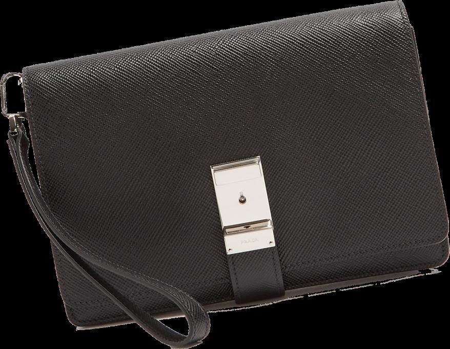 Prada Saffiano-leather pouch 5