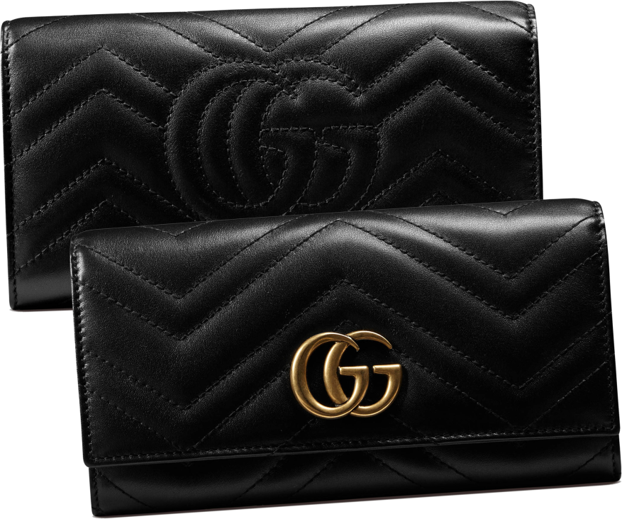 GG Marmont Continental Wallet face